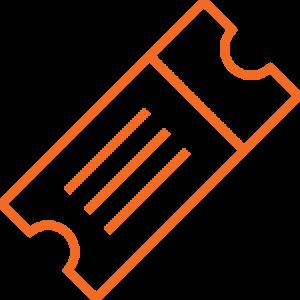 Roadshow Event Icon Outline Orange